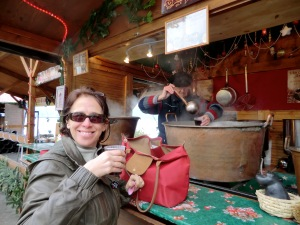 Vin chaud, gløgg, glühvein, mulled wine, here at the Xmas market in Montreux